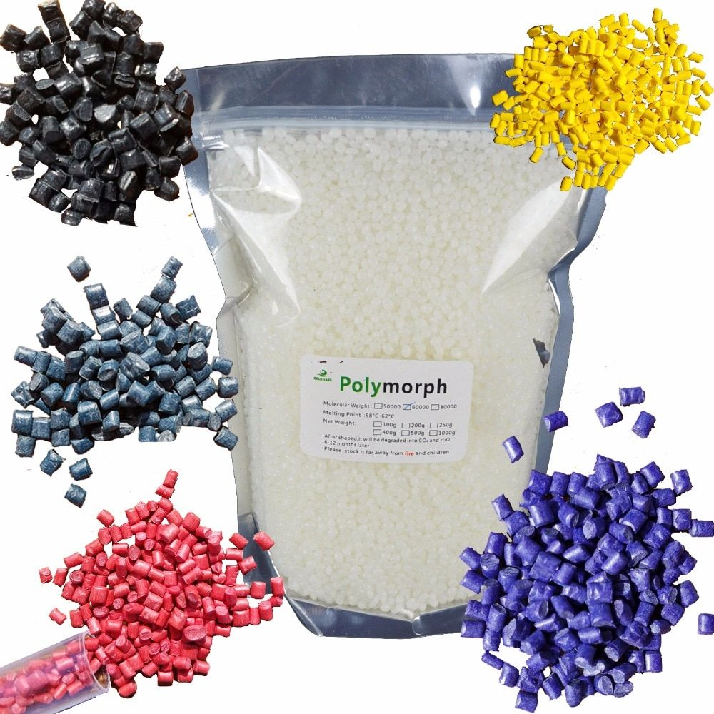 50g PCL and 1g color pigments Shape Shifter Thing PCL Polymorph Moldable plastic plastimake for Prototype hobbyist Usage