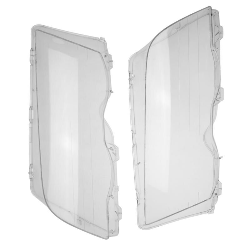 VODOOL Headlight Lens Headlamp Glass Cover Clear 4 Door Polycarbonate Headlamp Lens Cover Left&Right  For BMW E46 98-01