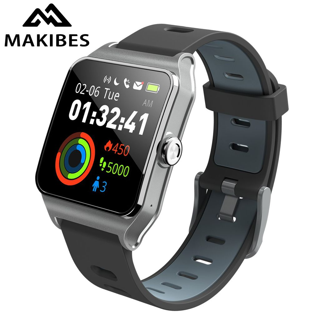RU/ES in stock! Strava Makibes BR3 Men GPS Smart watches SmartBand IP68 Waterproof Fitness tracker for Phone huawei IOS watches