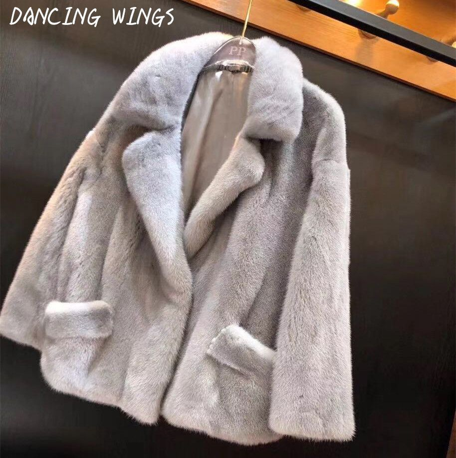 Winter Kleidung Frauen Natural Real Nerz Mantel Motorrad Jacke Dicke Warme Damen Echt Pelzmantel