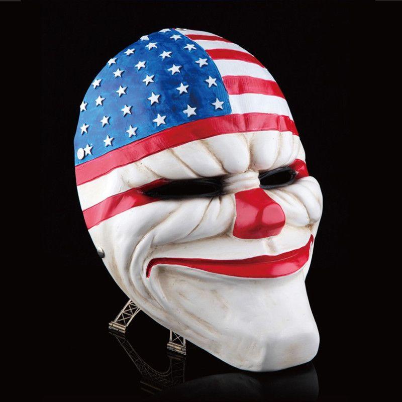 Payday 2 маски смола Heist Даллас/Волк/Цепи/Hoxton Косплей Хэллоуин Ужасы Клоун маскарад Косплей Карнавал костюм для мужчин