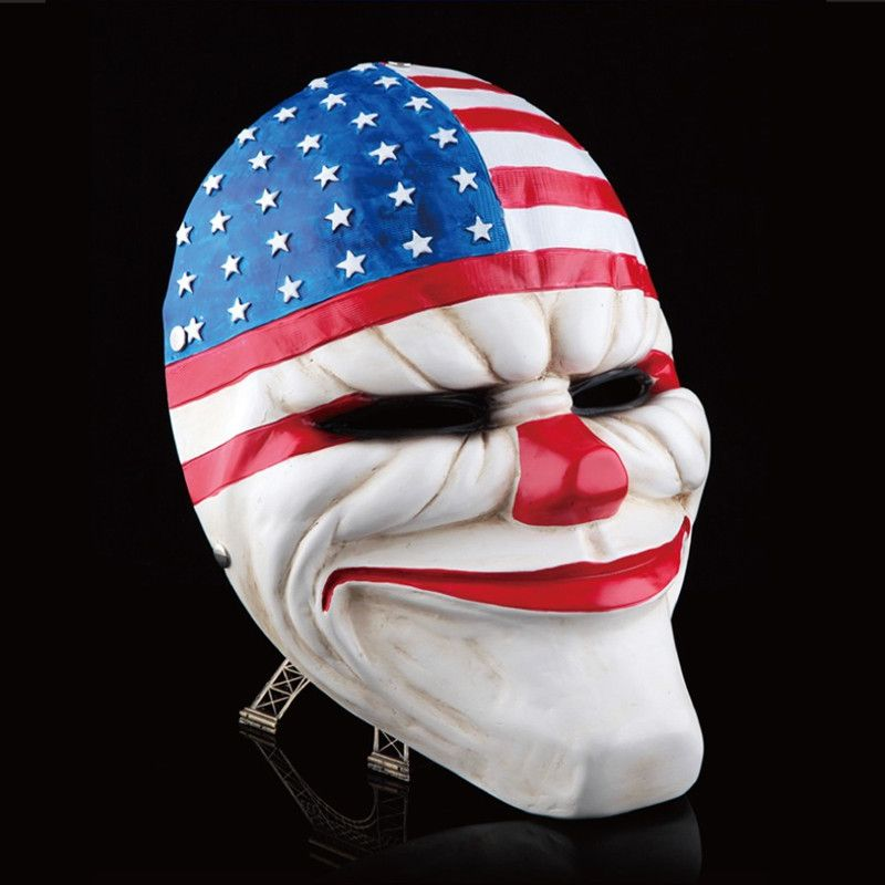 Payday 2 masque résine le casse Dallas/loup/chaînes/Hoxton cosplay halloween horreur clown mascarade cosplay Carnaval Costume hommes