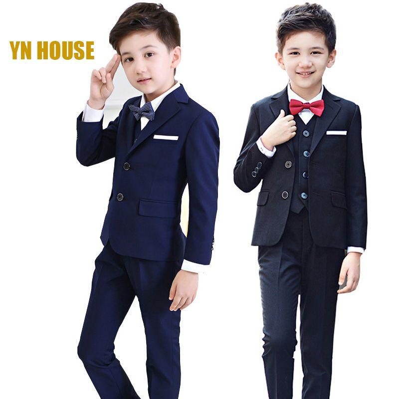 2018 complet régulier manteau garçons costumes pour les mariages enfants bal mariage vêtements pour enfants vêtements ensembles garçon classique Costume robes
