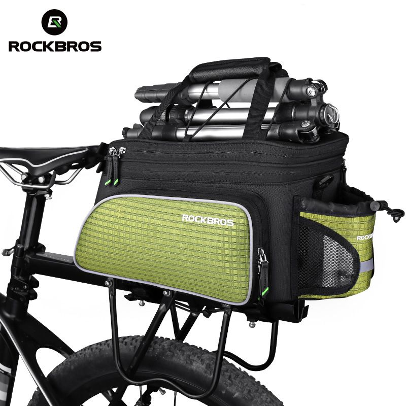 ROCKBROS Cycling Bicycle Bag Rear Package MTB Bike Carrier Seat Bags Tail Trunk Pannier Backpack Large Capacity Case Rainproof