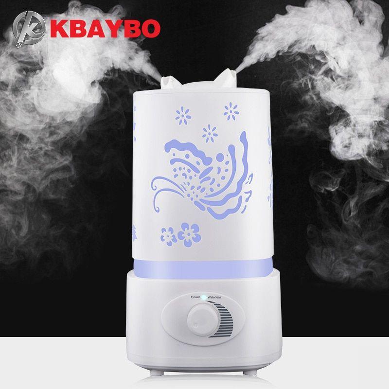 Air Humidifier Aroma Diffuser 7 Color LED With Carve Essential Oil Diffuser Mist Maker for Home Office Baby Room Bedroom Spa