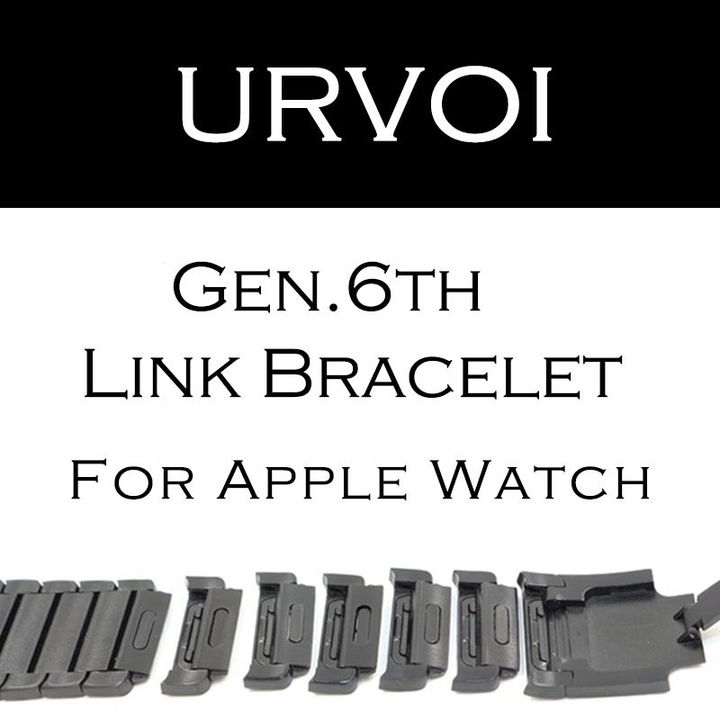 URVOI link bracelet band for apple watch series 3 2 1 strap for iWatch adjustable high quality stainless steel band gen.6