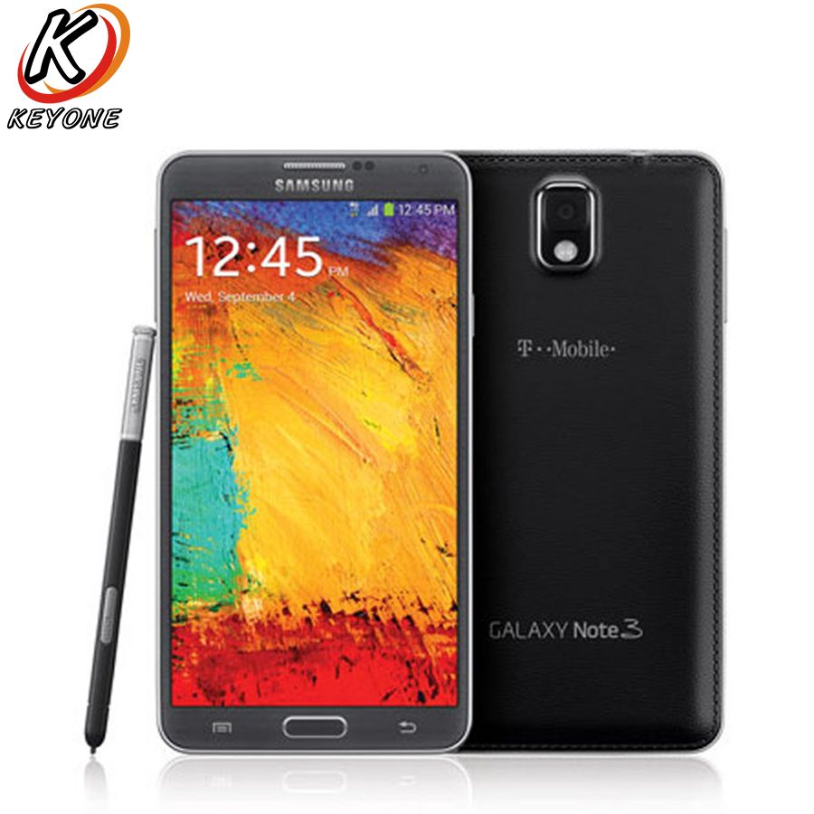 T-Mobile Version Samsung Galaxy Note 3 N900T Mobile Phone Quad Core 3GB RAM 32GB ROM 5.7