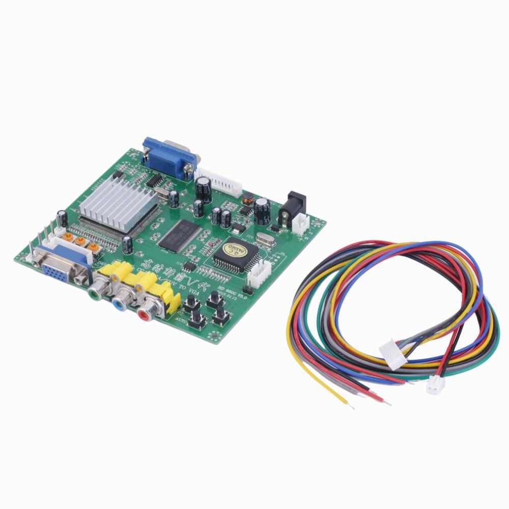 1 Set Nouveau RVB CGA EGA YUV vers VGA HD Video Converter Conseil Moudle HD9800 HD-Conseil Converter GBS8200 Non-Blindé Protection