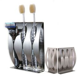 1PC Stainless Steel Three Position Two Position Self-Adhesive Toothbrush Holder Bathroom Accessories in family