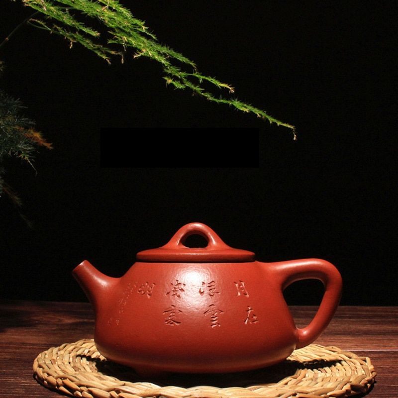 120ML Yixing Purple Clay Teapot Chinese Kung Fu Tea Set Raw Ore Zhu Mud Mini Stone Scoop Pot Black Tea Kettle for Birthday Gifts