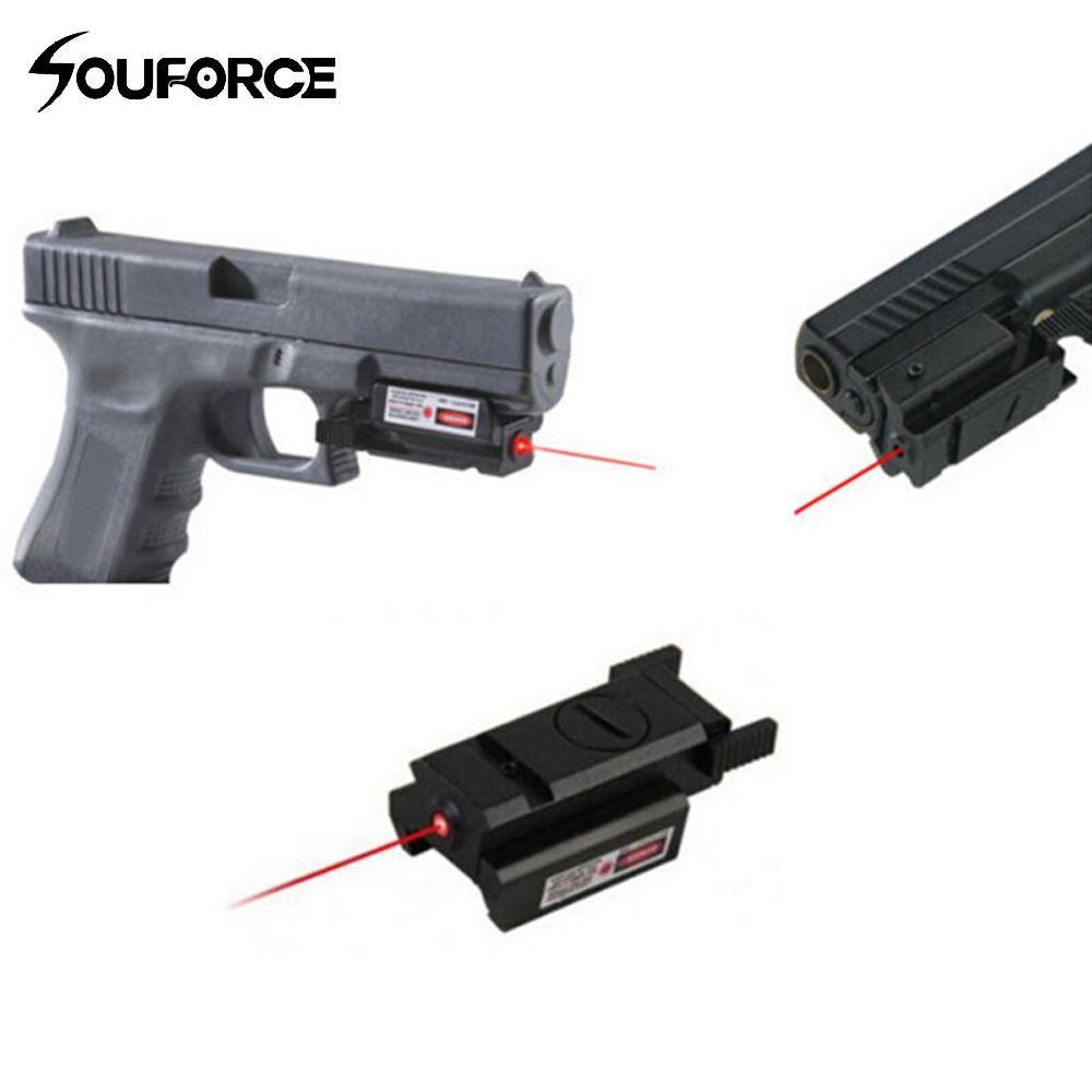 Portée de visée Laser à point rouge tactique de haute qualité avec support + 2 clés pour G17 19 23 22 9mm 22LR