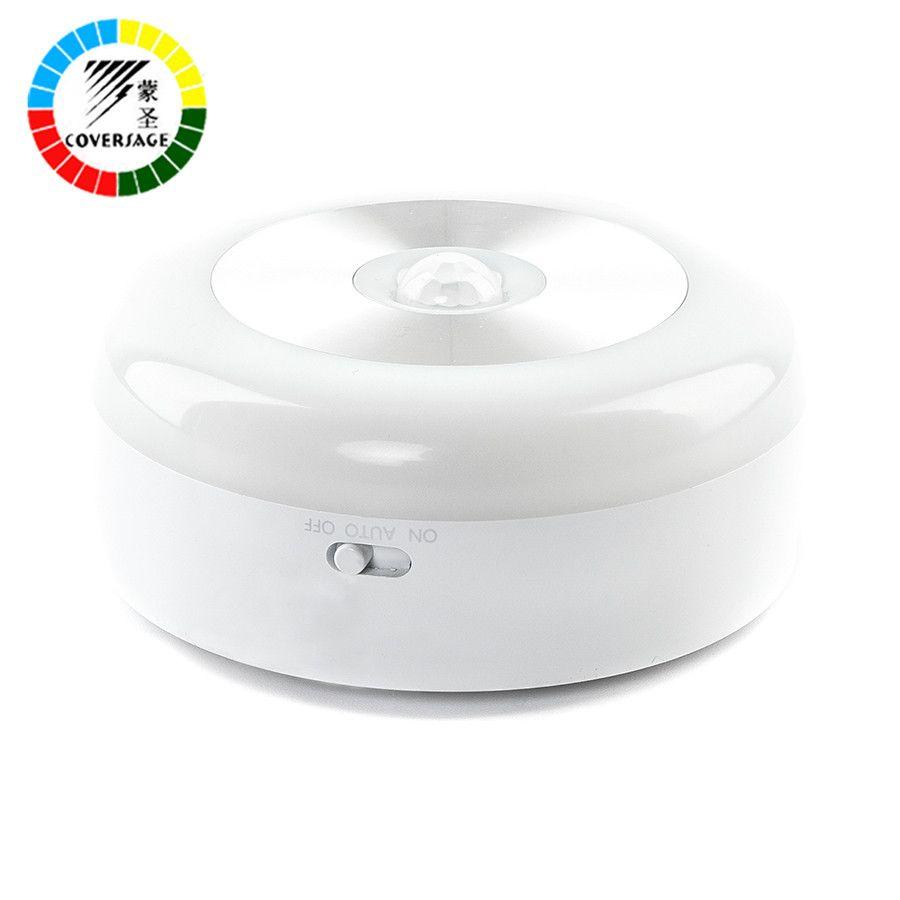 Coversage Samrt Night Light Motion Sensor Activé Batterie Alimenté Bébé Dormir Accueil WC Chambre Toilettes Salle De Bains Cuisine Lumières