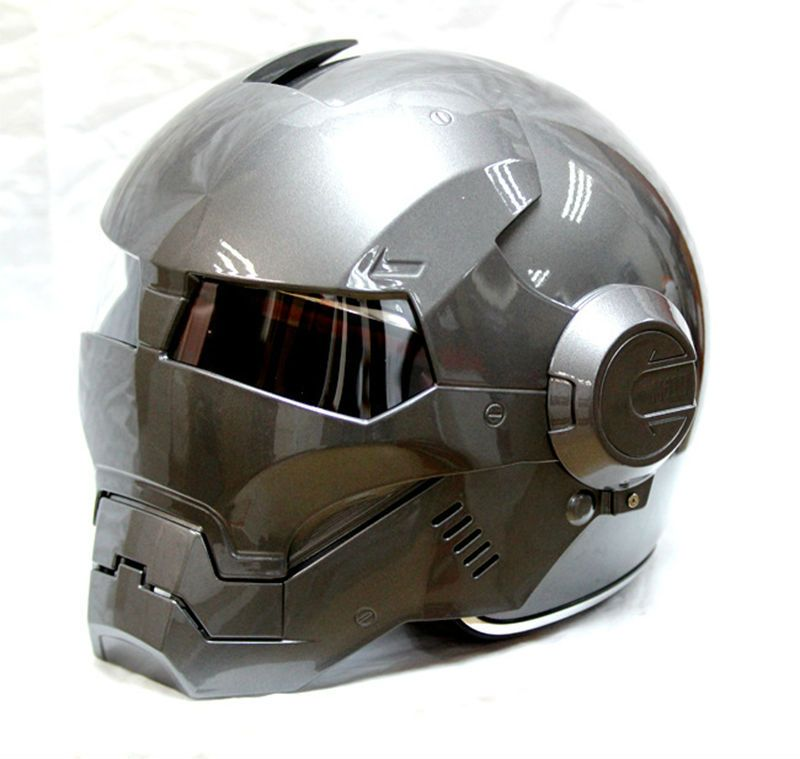 Free shipping 2015 hot MASEI Gray IRONMAN Iron Man helmet motorcycle half helmet open face helmet casque motocross 610 M L XL