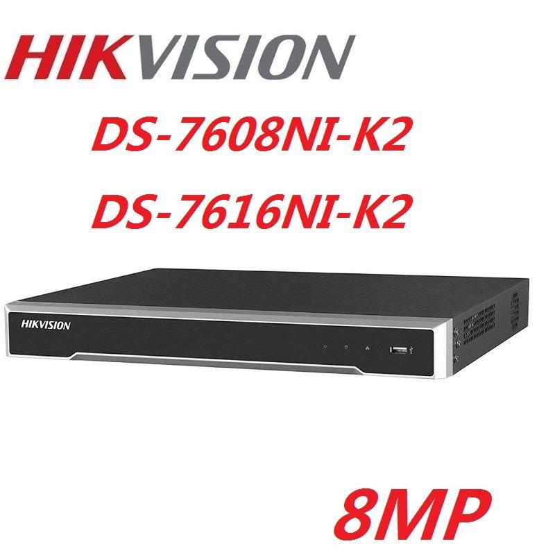 Hikvision Englisch Version DS-7608NI-K2 DS-7616NI-K2 8CH 16CH Max unterstützt 8MP IPC 4 K H.265 NVR Netzwerk Digital Video Recorder