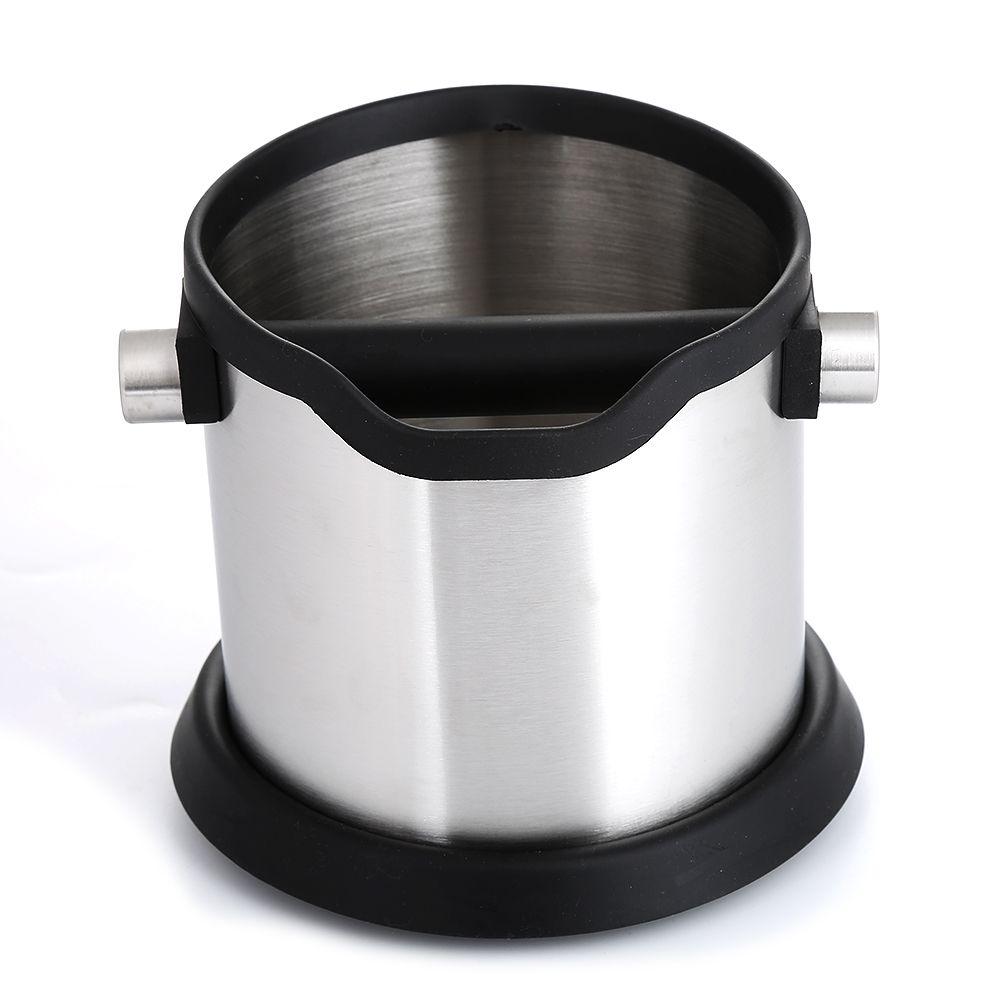 Realand 1800 ml Edelstahl Espresso Klopfen Box Anti slip Kaffee Schleifen Dump Bin Abfall Bin mit Abnehmbare Klopfen Bar barista