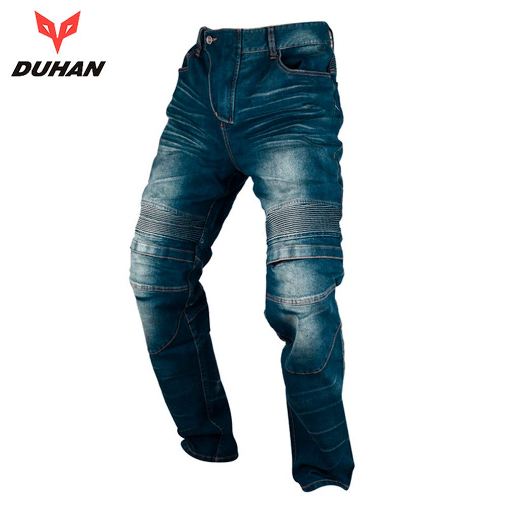 DUHAN Motorcycle Jeans Motocross Moto Pants Motorcycle Pants Hip Protector Jeans Trousers with Removeable Protectors for Men