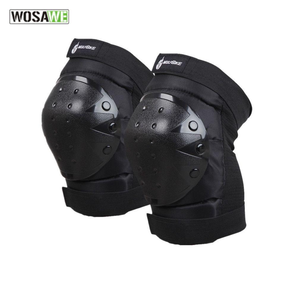 WOSAWE motocross Knee pad Protecteur équitation ski snowboard Tactique Skate Genou de Protection Garde moto genou soutien