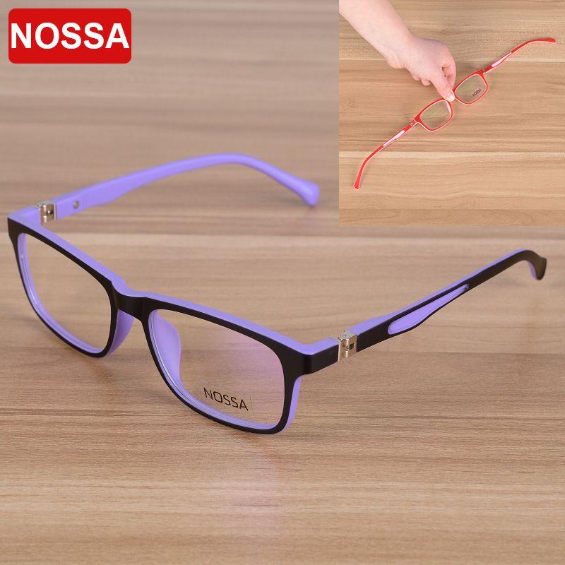 NOSSA Élégant Carré Enfants Optique Lunettes Cadre Enfants Lunettes Lunettes Garçons Filles Myopie Montures de lunettes Objectif Clair
