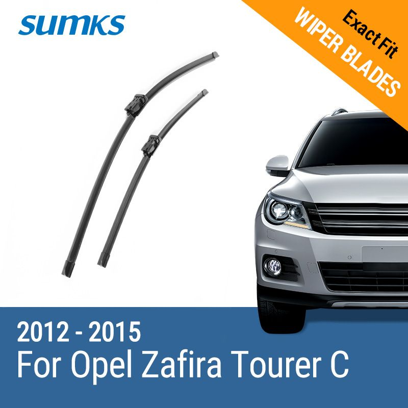 SUMKS Wiper Blades for Opel Zafira Tourer C 32& 28 Fit push button Arms 2012 2013 2014 2015