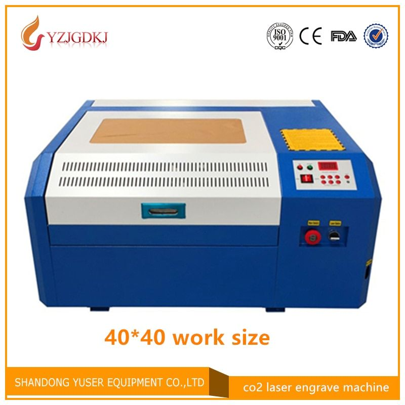 Free shipping 50w laser cutting machine 4040 co2 laser engraving machine diy mini cutting plywood Coreldraw support 40*40cm