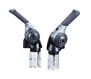 Microshift TT Bar End Bike STI Shifter BS-A11 Shifters Road Bike Shift Bicycle 9/10/11 Speed Compatible for Shimano Lever Set