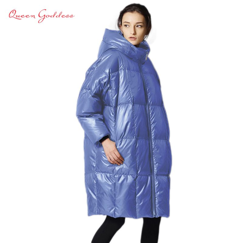 Female is long down jacket women 2017 parkas fashion casual loose filled 90% white duck coat cold weather plus size outwear
