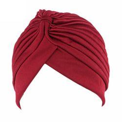 11 couleur Femmes Vacances Cap Solide Musulman Turban Cap Femmes Élastique Extensible Bonnets Chapeau Bandanas Big Satin Bonnet Indien F0239