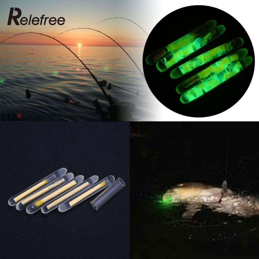 50 Teile/satz Angeln Fluoreszierende Bobbers Mit Licht Nacht Float Clip On Dark Glow rock bobber buoy float Stick 25mm zubehör