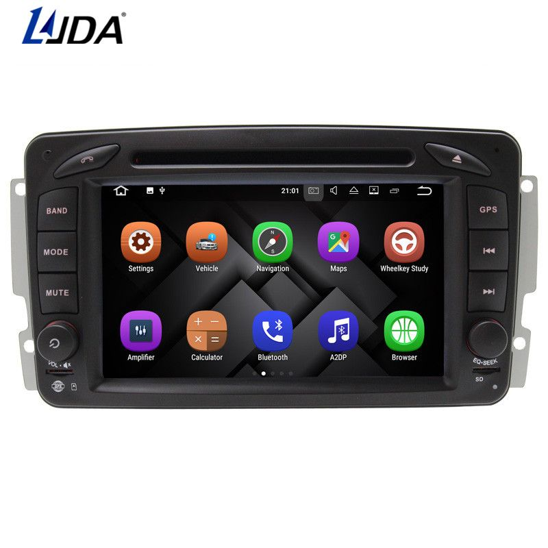LJDA 2DIN ANDROID 7.1 Car DVD Player For Mercedes Benz CLK W209 W203 W168 W208 W463 Vaneo Viano Vito GPS Navigation Auto Radio