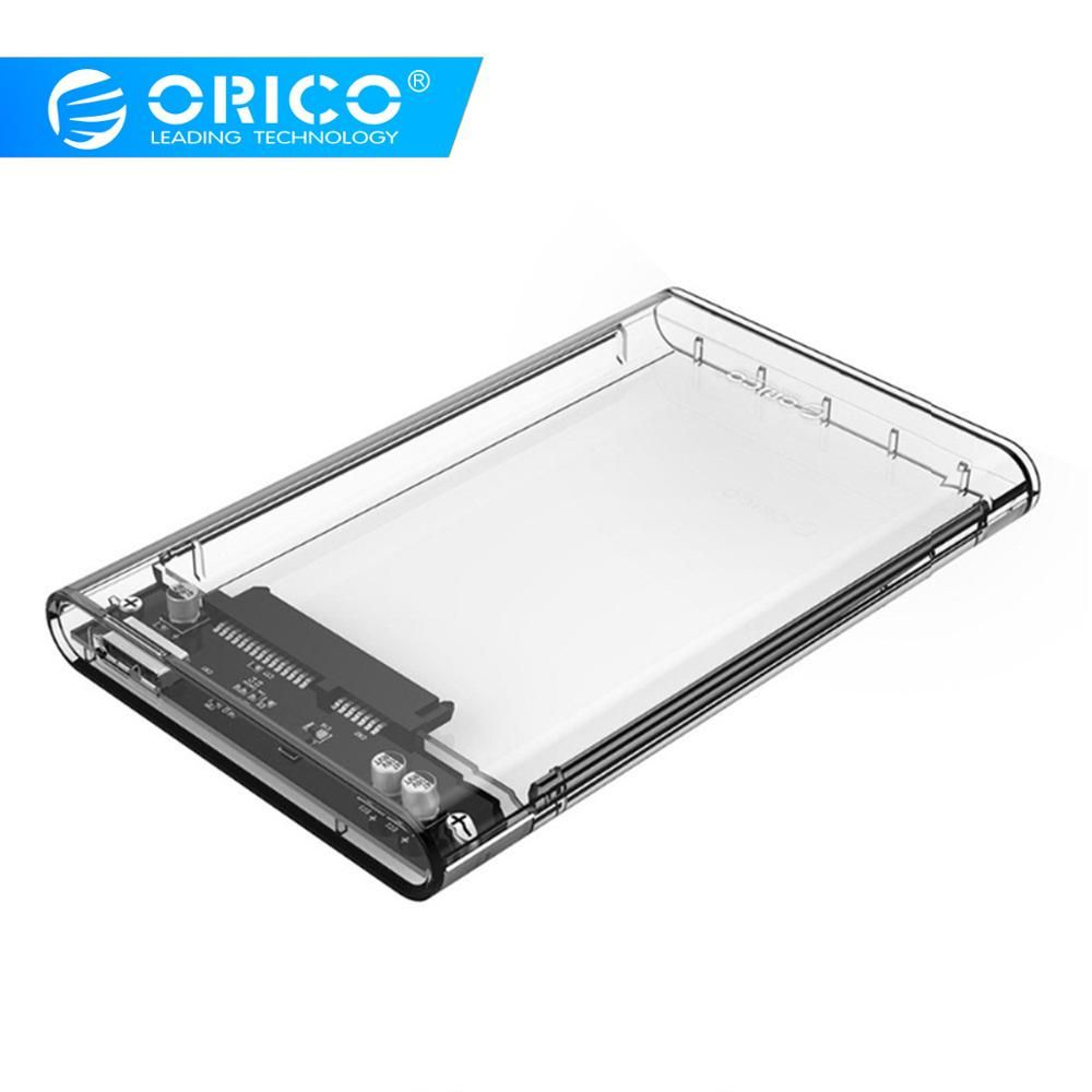 ORICO 2139U3 Transparent 2.5 inch HDD Case Sata to USB 3.0 Adapter High Speed Box Hard Drive Enclosure For Samsung Seagate SSD