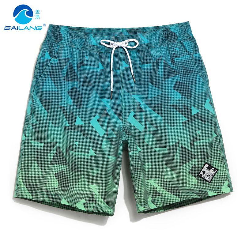 Gailang board shorts <font><b>couples</b></font> beach surfing liner swimwear fitness bodybuilding swimming trunks Geometric mens bathing suit men