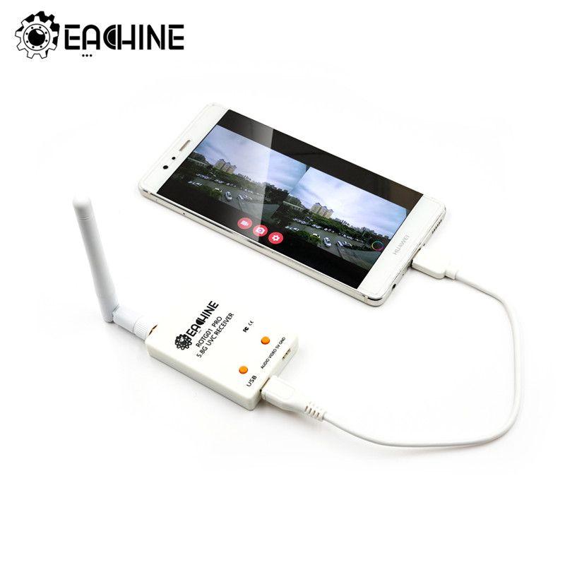 Eachine ROTG01 Pro UVC OTG 5.8G 150CH récepteur FPV à canal complet avec Audio pour Smartphone Android