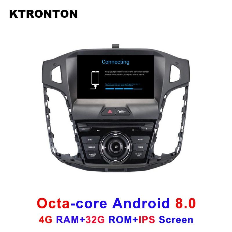 Octa-Core Android 8.0 Car DVD Player for Ford Focus 3 2012-2014 with Stereo Audio Radio BT Tape Recorder GPS Wifi DVR IPS Screen