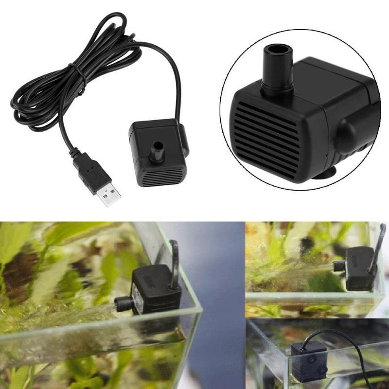 Mini Aquarium Wasser Pumpe DC 5 v USB Motor Wasserpumpe für Aquarium Aquarium Tauch Brunnen Aquatische Liefert