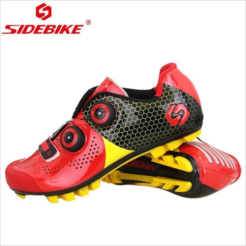 Mountain Carbon Fiber Mountain MTB Riding Shoes Ultralight Synthetic Fiber Men Sports Red Black Riding Breathable Cycling Shoes