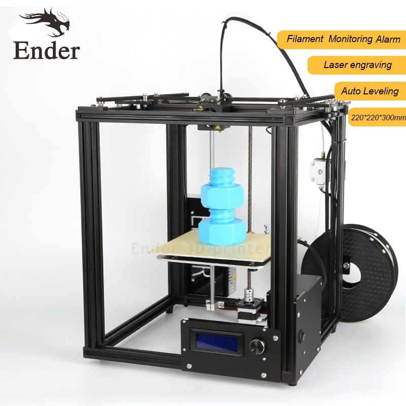 2018 Hot Ender-4 3D printer Laser Engraving,Large print size 220*220*300mm Auto Leveling,Filament Monitoring Alarm Protection