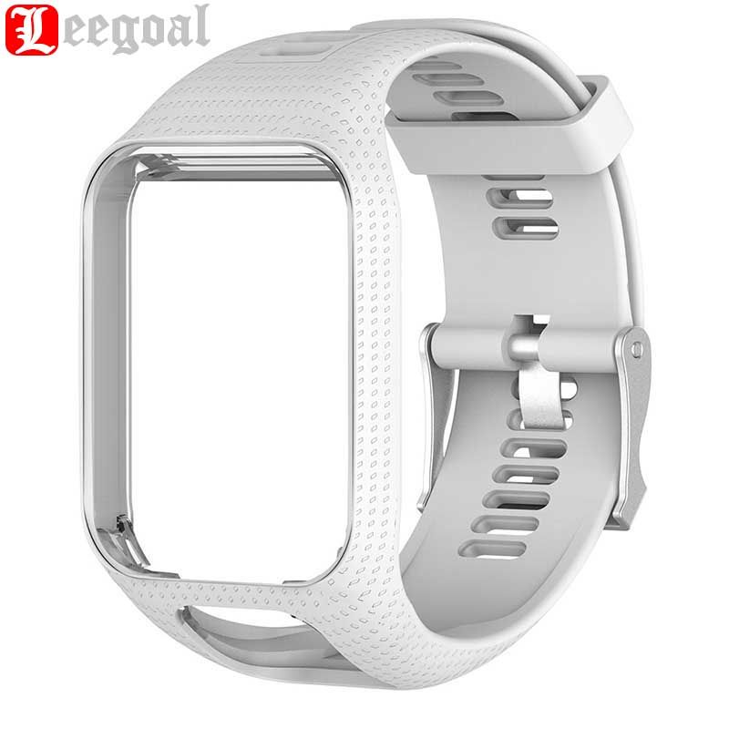 Leegoal Watch Strap for TomTom Runner 2 3 GPS Smart Watch Silicone Watchband With Frame Watch Band Smart Accessories