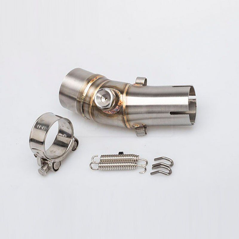 Motorcycle Exhaust Muffler Middle Link Pipe Connection Pipe For Kawasaki ER6N ER6F 2007 2008 2009 2010 2011 2012 2013 14 Slip-on