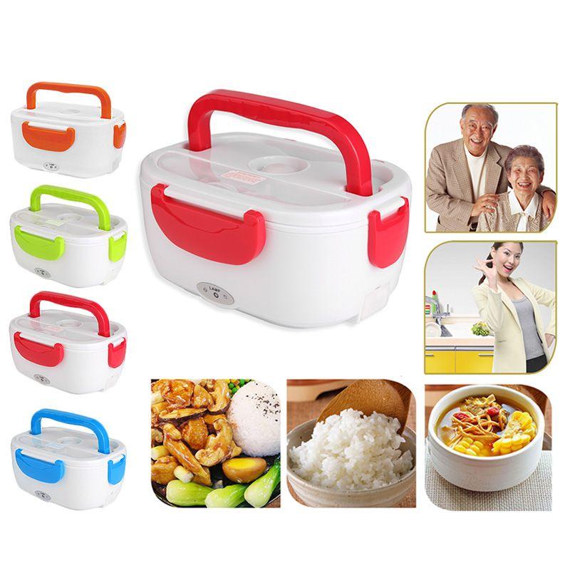 110 V-220 V boîte à déjeuner récipient pour aliments Portable 2019 Nouvelle boîte à lunch électrique Chauffage de Qualité Alimentaire réchaufeur d'aliments Pour Les Enfants ensemble de table