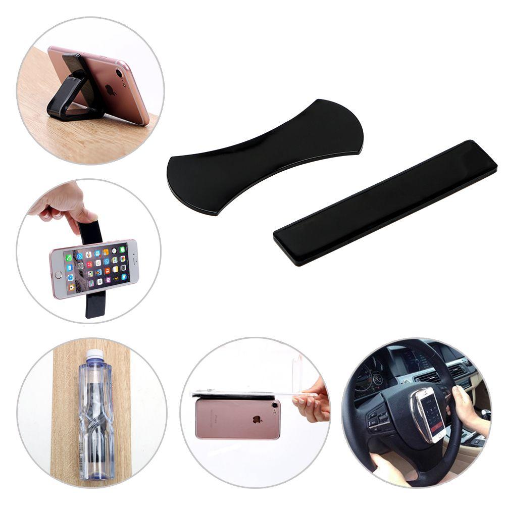 2Pcs Sticky Gel Pad Washable Anti Slip Mat Car Mobile Phone Tablet Holder Magic Wall Sticker Lazy Bracket Anti-slip Mat No Trace