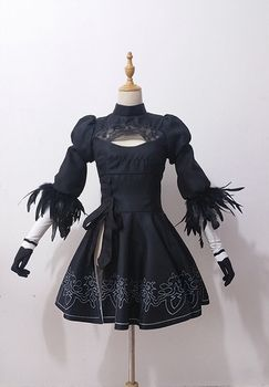 NieR Automata 2B Dress Cosplay Costume YoRHa No. 2 Type B Woman Black Long Party Dresses Tailors-Made