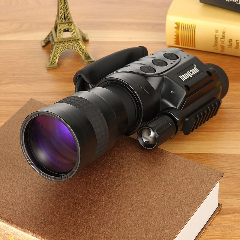 Rongland NV-760D+ Infrared Hunting Night Vision IR Monocular Telescopes 7x60+3 Batteries+Charger Video Record Device