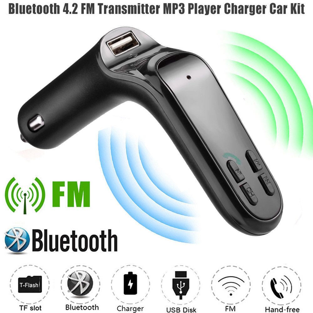 NEW Aux modulator FM Bluetooth handsfree car Kit auto 3 LCD MP3 playerwith fast charging Radio Adapter Kit Charger  12.19