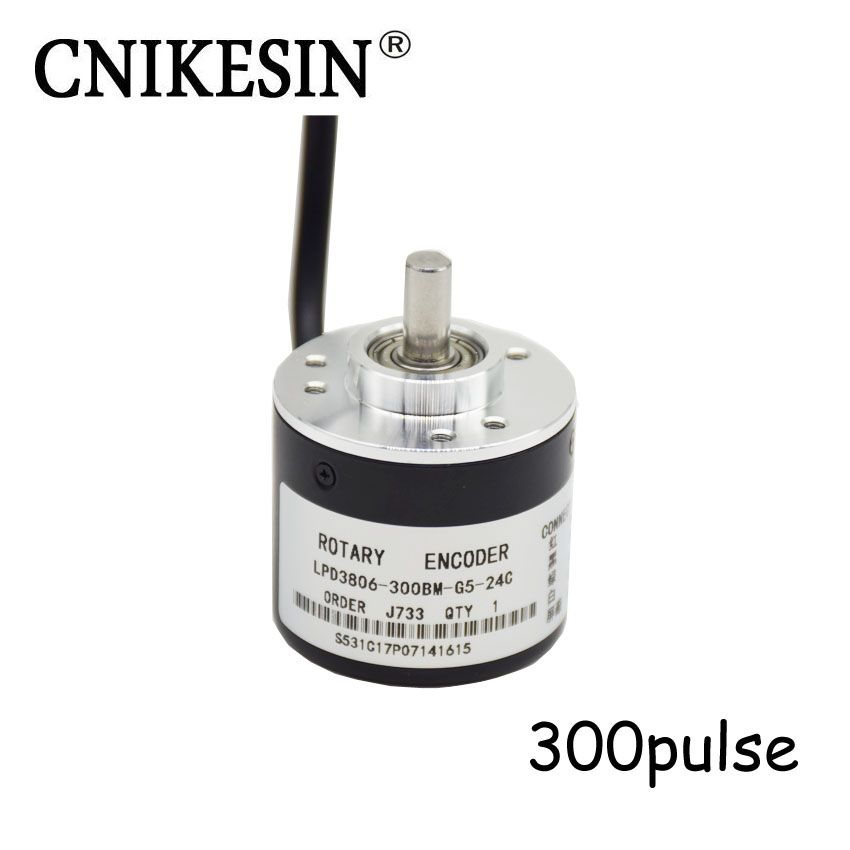 CNIKESIN Original encoder 300 pulse Photoelectric rotary encoder 5-24V coupling NPN output