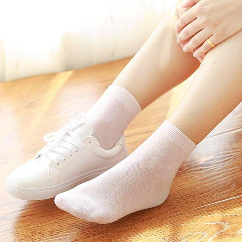 Для женщин's Носки хлопок бизнес-леди повседневные носки антибактериальные натуральный дезодорант 6pirs * 2 b1-11