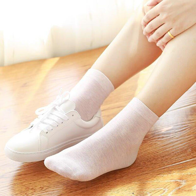 Women 's  socks cotton lady business casual socks antibacterial deodorant natural 6pirs*2 B1-11