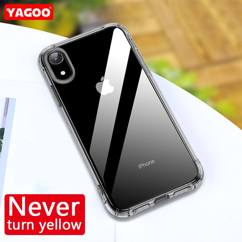 Yagoo Original Official Case For iPhone XR X Case For iPhone XS MAX Phone Cover For iPhone 6 6S 7 8 Plus Transparent Silicone