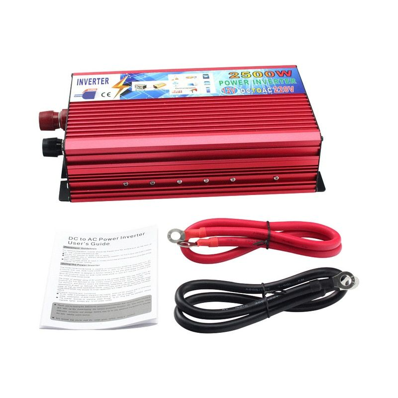 2500W Car Power Inverter DC 12V To AC 220V Portable Power Inverter Vehicle Power Supply Charger Converter Adapter