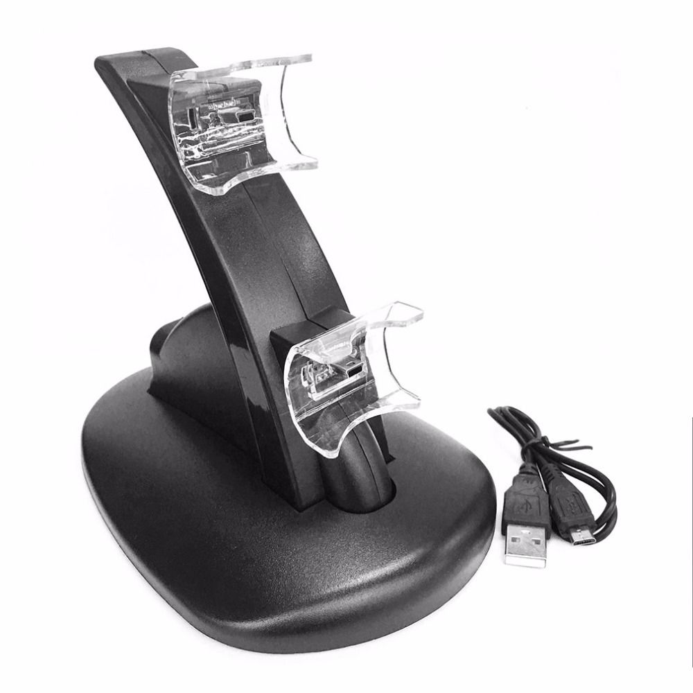 LED Light Quick Dual USB Charging Dock Stand Charger For PlayStation 3 For PS3 Controller Console Charging Accessories
