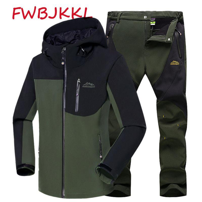 Angeln männer Anzug Winter Shark Haut Soft Shell Hosen Bergsteigen Jacke Mantel Winddicht Wasserdicht Angeln Kleidung Jersey